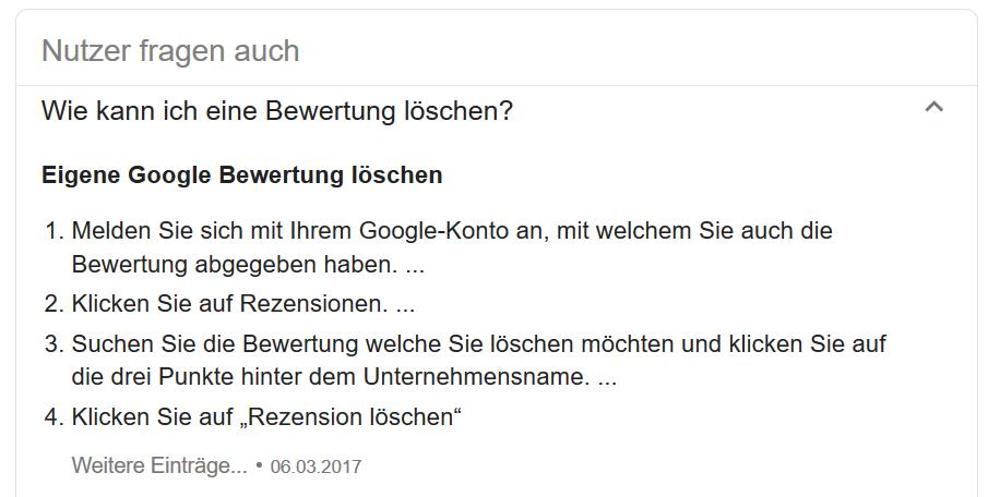 Irreführende Hilfe von Google